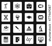 science icons set in simple... | Shutterstock .eps vector #477469087