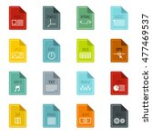 file format icons set in flat...   Shutterstock .eps vector #477469537