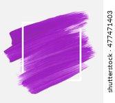 logo brush painted watercolor... | Shutterstock .eps vector #477471403