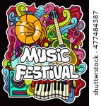 colorful music background.... | Shutterstock .eps vector #477484387