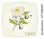 vintage floral design vector... | Shutterstock .eps vector #477488587