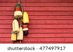 Vintage Lobster Buoys Hanging...