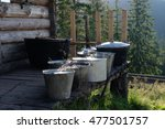 buckets with food for livestock ... | Shutterstock . vector #477501757