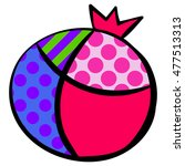 hand drawn colorful vector... | Shutterstock .eps vector #477513313