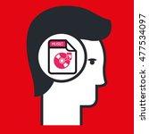 silhouette music icon | Shutterstock .eps vector #477534097