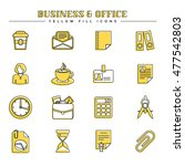 business and office  yellow... | Shutterstock .eps vector #477542803