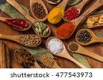 taste of spice india   Shutterstock . vector #477543973