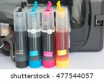 color tank on inkjet printer | Shutterstock . vector #477544057