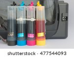 color tank on inkjet printer | Shutterstock . vector #477544093