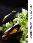 salad with mussels | Shutterstock . vector #477564337