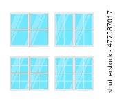 windows set isolated on white... | Shutterstock . vector #477587017