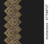 golden frame in oriental style. ... | Shutterstock .eps vector #477588727
