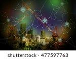 smart city landscape and... | Shutterstock . vector #477597763