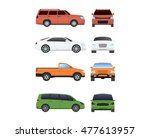 different car vehicle transport ... | Shutterstock .eps vector #477613957