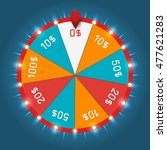 color lucky wheel template.... | Shutterstock .eps vector #477621283