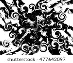 grunge stripes. overlay texture ... | Shutterstock .eps vector #477642097