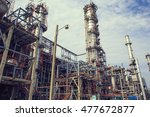 refinery plant thailand oil and ... | Shutterstock . vector #477672877