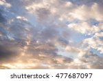 Small photo of Blue and yellow sky background texture white grey clouds abstract light, tender, cutter tone sunrise high view calming, soothing, sedative, tranquilizing, restful, anodyne landscape