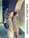 young russian man wearing...   Shutterstock . vector #477687343