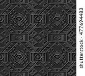dark 3d paper art  polygon... | Shutterstock .eps vector #477694483
