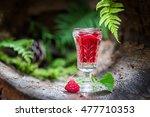 healthy raspberries liqueur... | Shutterstock . vector #477710353