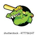 mascot head crocodile alligator ... | Shutterstock .eps vector #477736147