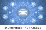 smart car interface.... | Shutterstock .eps vector #477736813