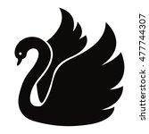 black swan. vector icon | Shutterstock .eps vector #477744307