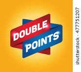 double points arrow tag sign. | Shutterstock .eps vector #477751207