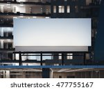 white billboard standing on a... | Shutterstock . vector #477755167
