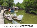 fishing village on the island... | Shutterstock . vector #477757747