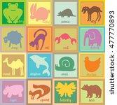 set ot sweet animals. colored...   Shutterstock .eps vector #477770893