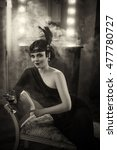 Beautiful Flapper Girl With...