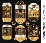 olive oil retro vintage gold... | Shutterstock .eps vector #477791827