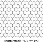 simple geometric hexagon floor...   Shutterstock .eps vector #477794197