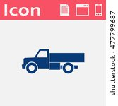 vector flat icon of truck. web...