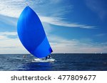 sailing yacht race. yachting.... | Shutterstock . vector #477809677