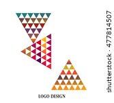 geometric colorful triangle... | Shutterstock . vector #477814507