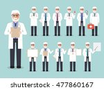 group of senior male doctors ... | Shutterstock .eps vector #477860167
