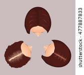 female hair loss stages set.... | Shutterstock . vector #477887833