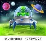 a little green man alien...