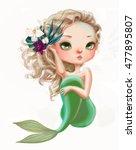 cute mermaid | Shutterstock . vector #477895807