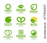 eco food  organic bio products  ... | Shutterstock .eps vector #477904357