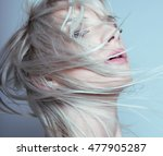 beautiful young woman with... | Shutterstock . vector #477905287