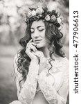 wedding. young beautiful bride... | Shutterstock . vector #477906613