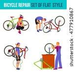 bicycle travel. repair broken... | Shutterstock .eps vector #477910867