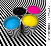 cmyk color paint background and ... | Shutterstock . vector #47791150