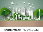 concept of eco   earth day and... | Shutterstock .eps vector #477913033