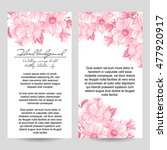invitation with floral... | Shutterstock .eps vector #477920917