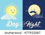 day and night vector...